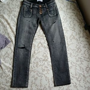 One Teaspoon Size 23 Cropped Jeans